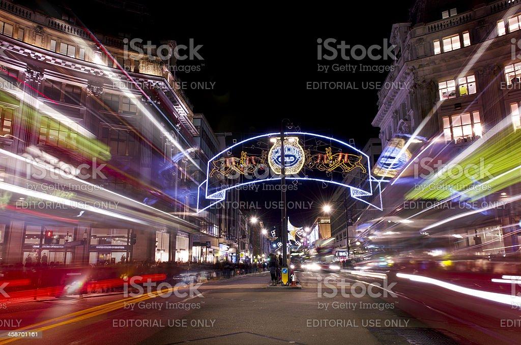 Oxford Street Christmas lights, 2012, London stock photo