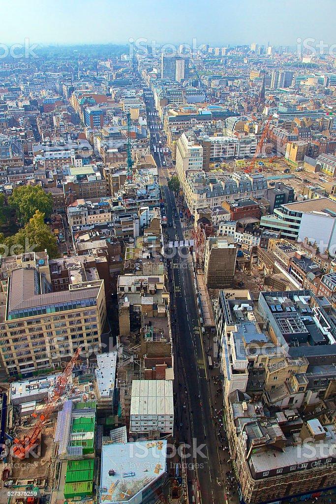 Oxford Street High Angle View stock photo