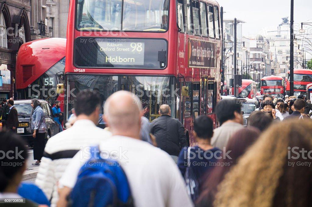 Oxford street London stock photo