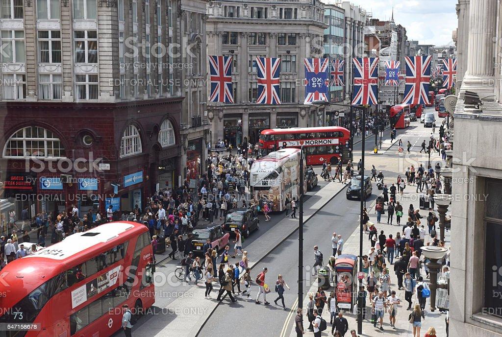 Oxford Street stock photo