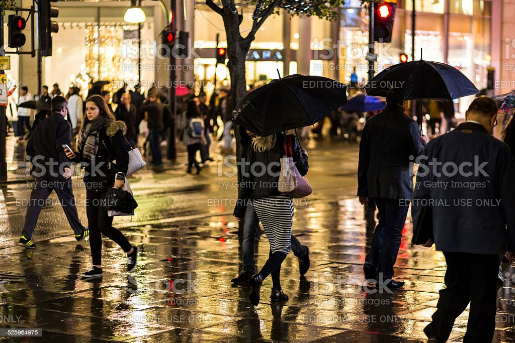 Oxford Street Shoppers stock photo