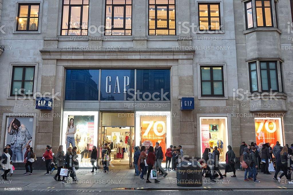 Oxford Street shopping stock photo
