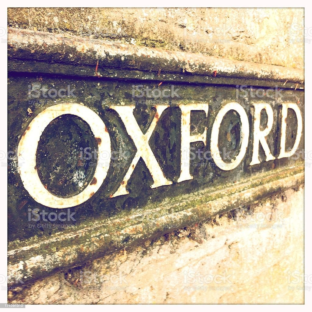 Oxford street sign stock photo
