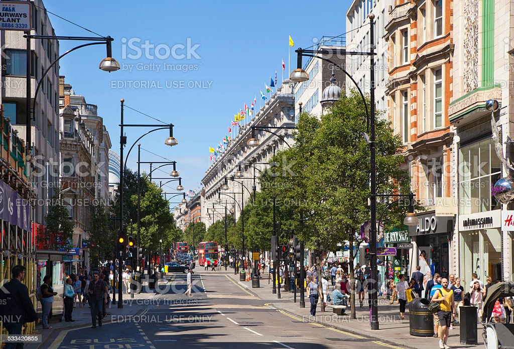 Oxford street view, London stock photo