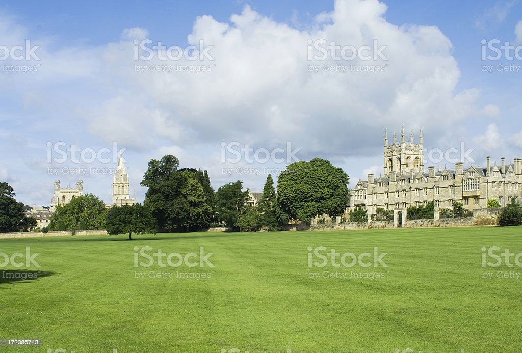 Oxford summer landscape stock photo
