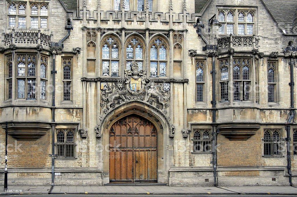 Oxford University, Brasenose College front stock photo