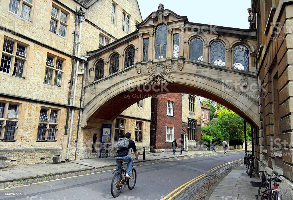 Oxford University, Bridge of Sighs stock photo