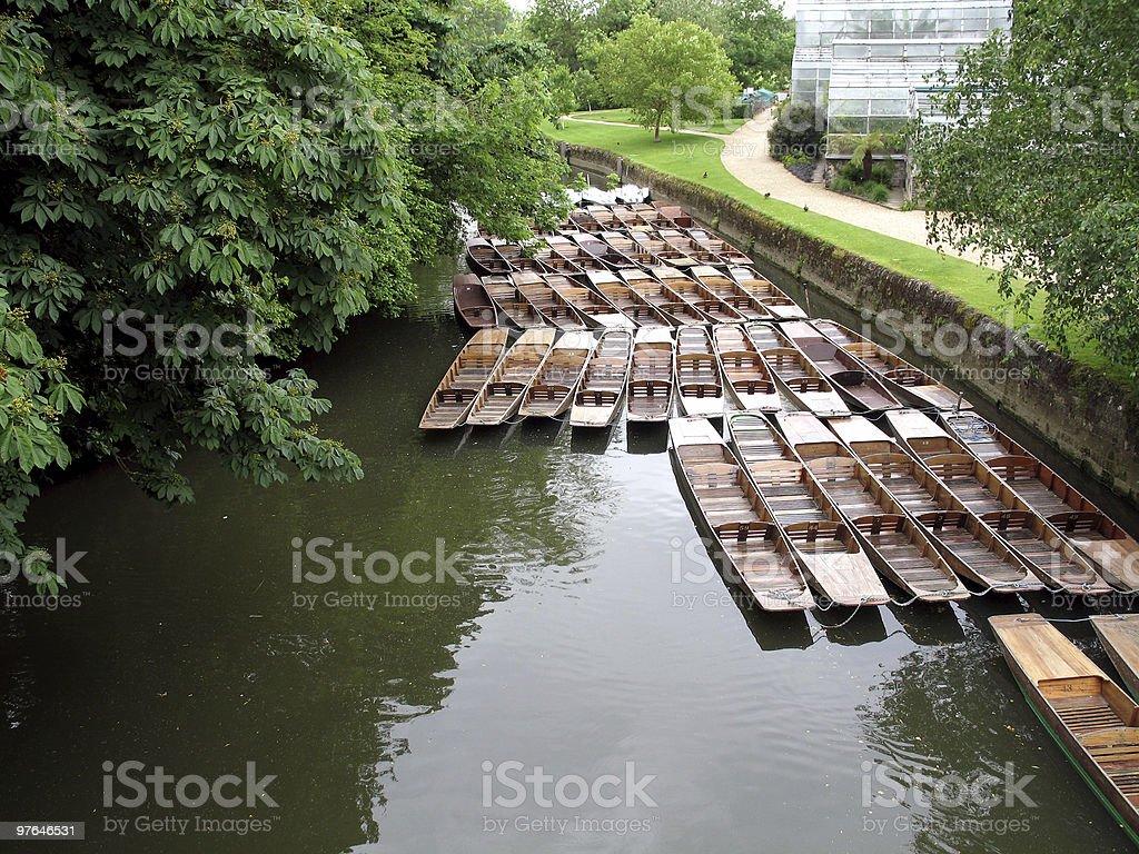 Oxford University Canoes stock photo