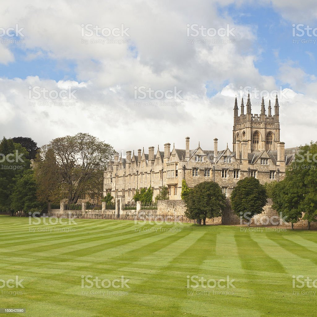 Oxford University college buildings stock photo
