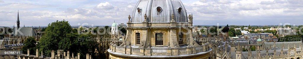 Oxford University panorama stock photo