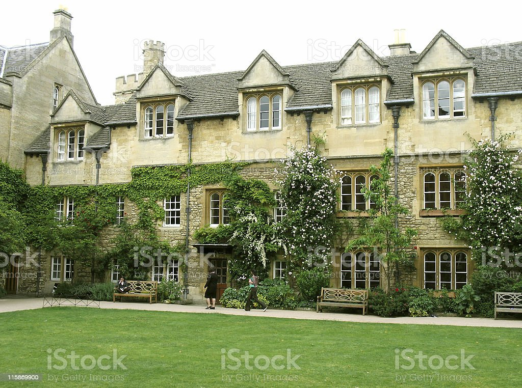 Oxford University royalty-free stock photo