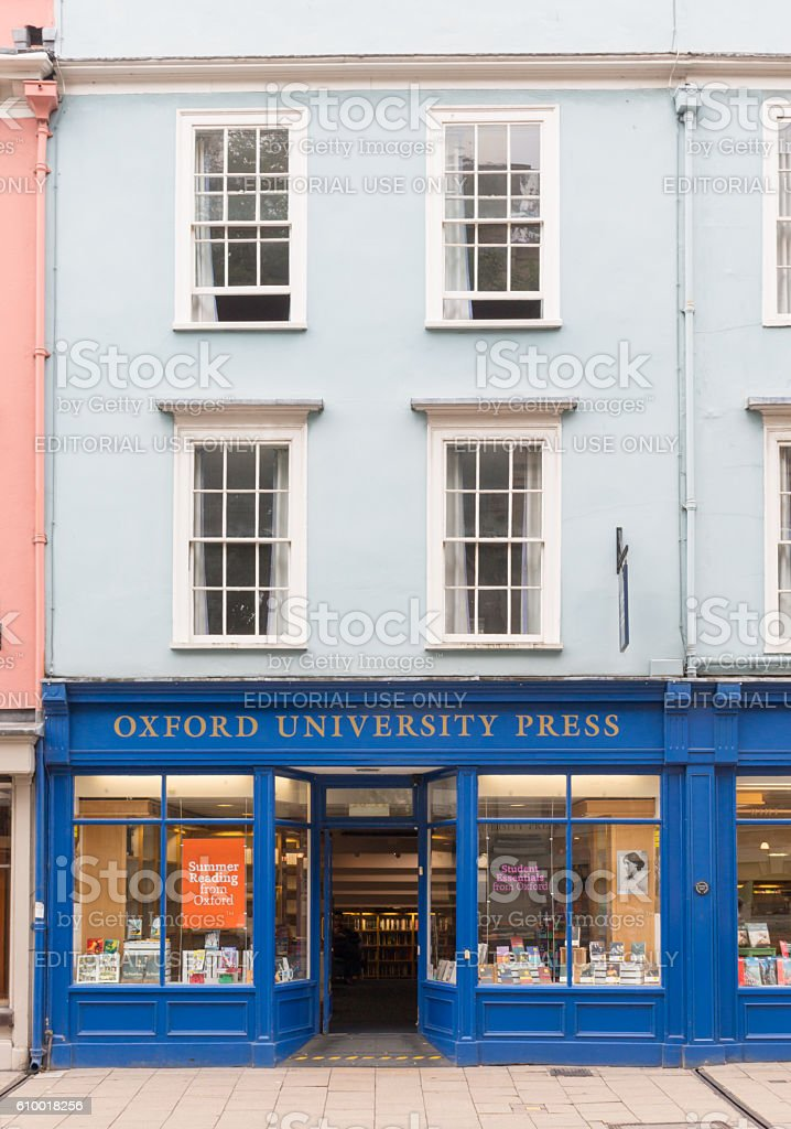 Oxford University Press Shop stock photo