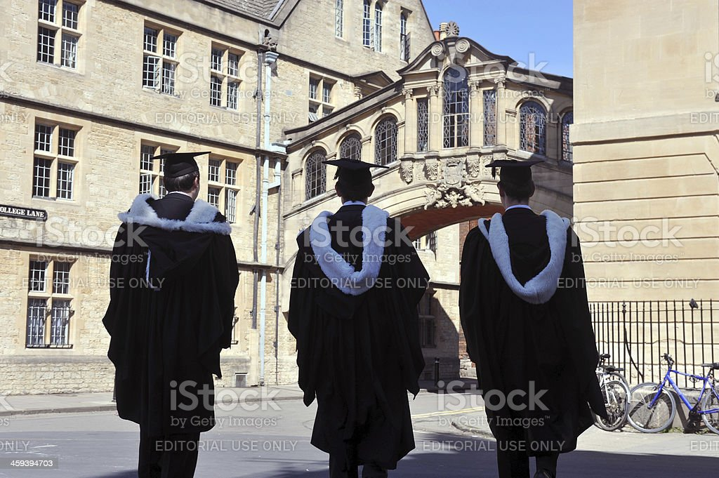 Oxford University Silhouettes stock photo