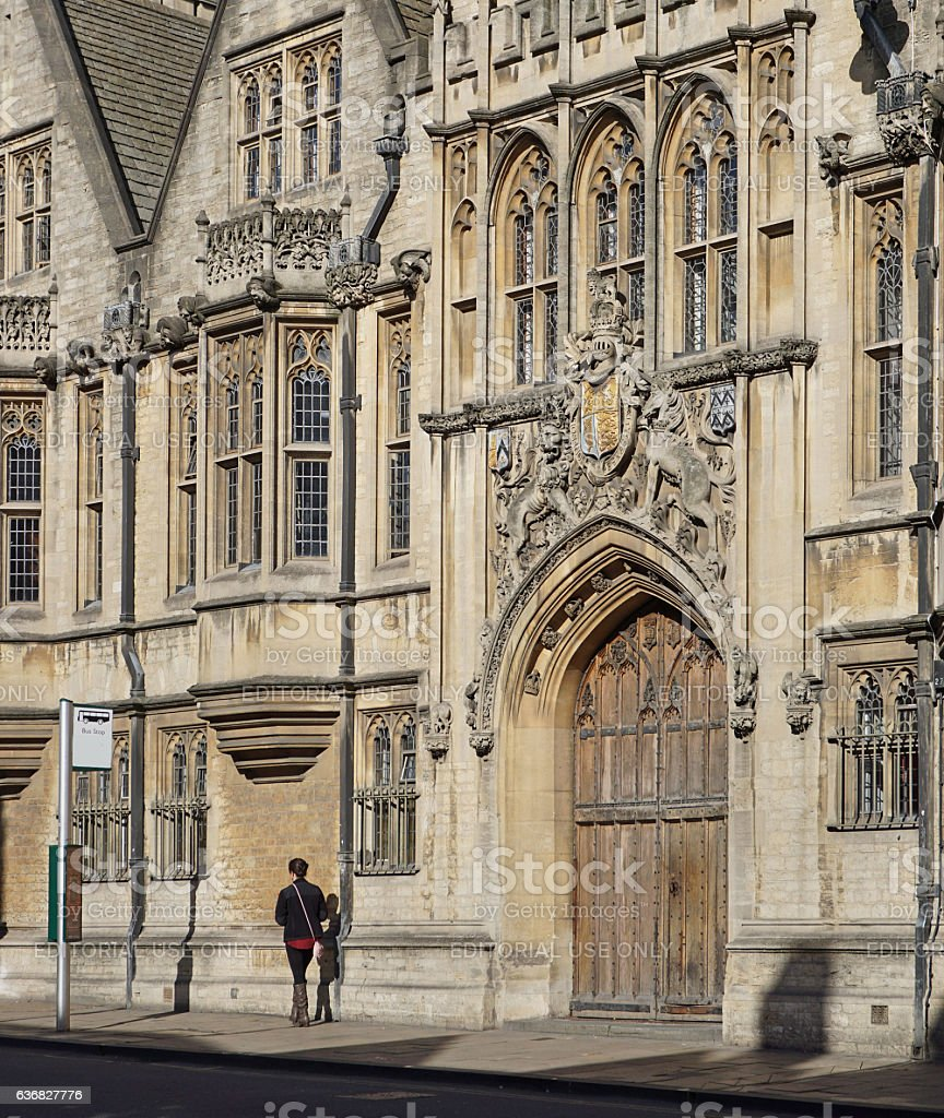 Oxford University, view from High Street stock photo