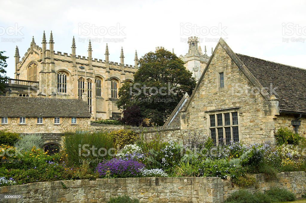 Oxford University's  Christchurch College royalty-free stock photo