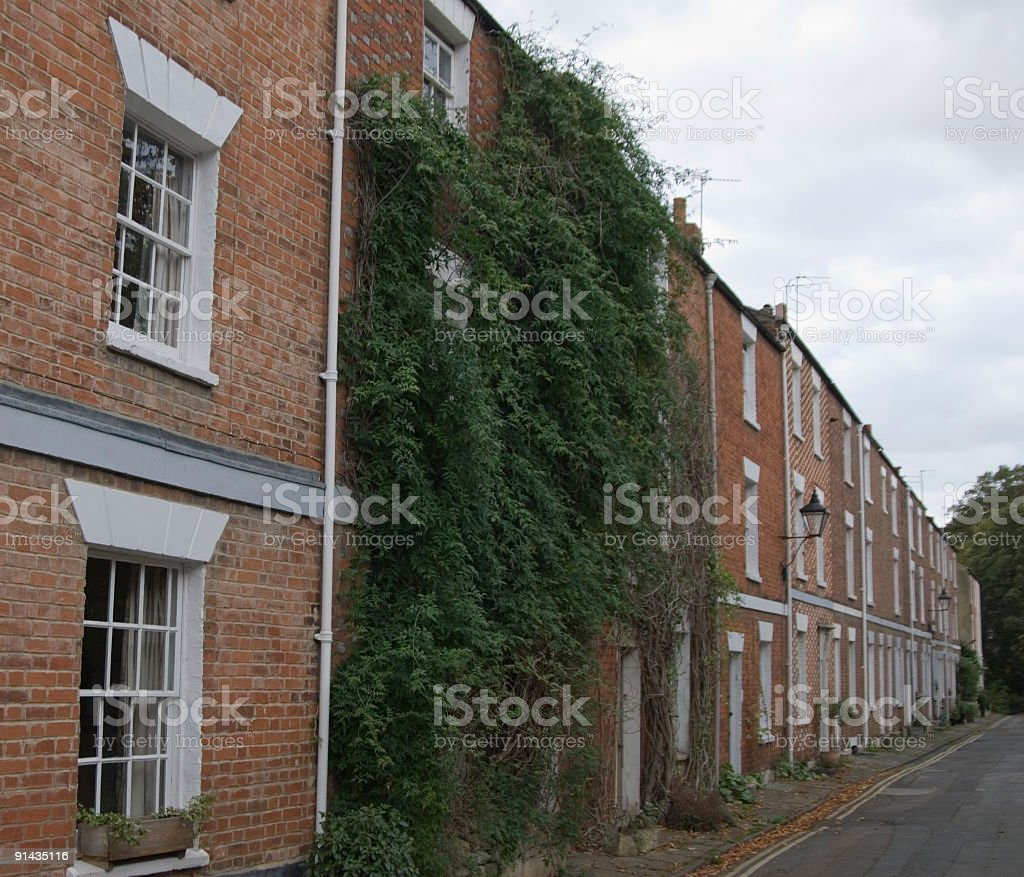 Oxford Victorian houses royalty-free stock photo