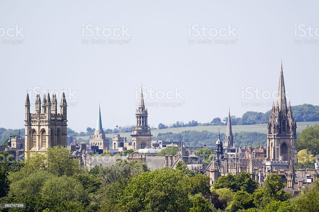 Oxfords Dreaming Spires stock photo