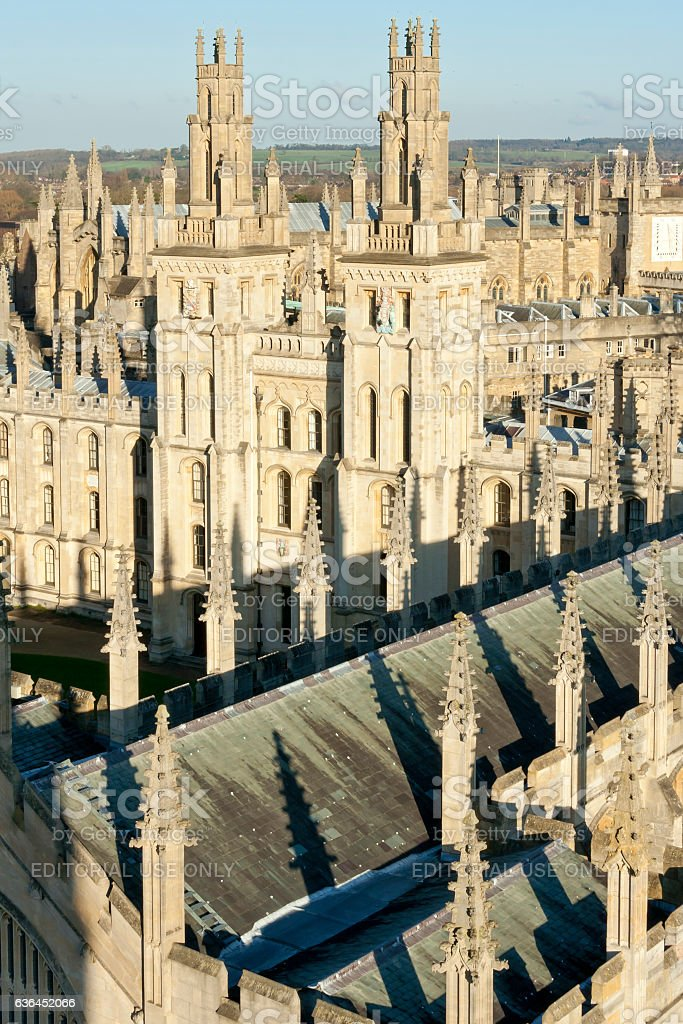 oxfords dreamy spires alll souls college uk royalty-free stock photo