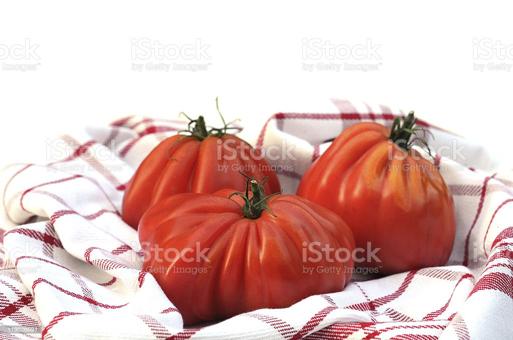 Oxheart or beefsteak tomatoes stock photo