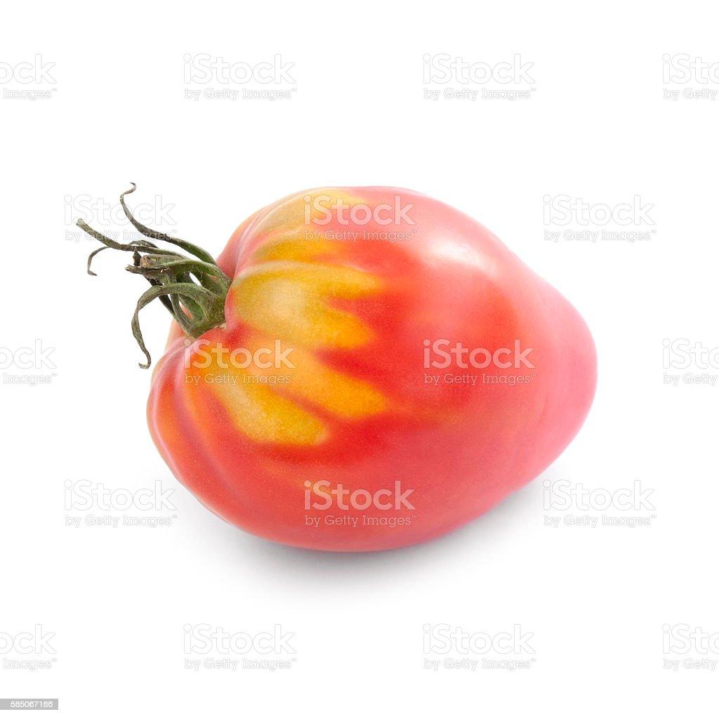Oxheart tomato isolated stock photo