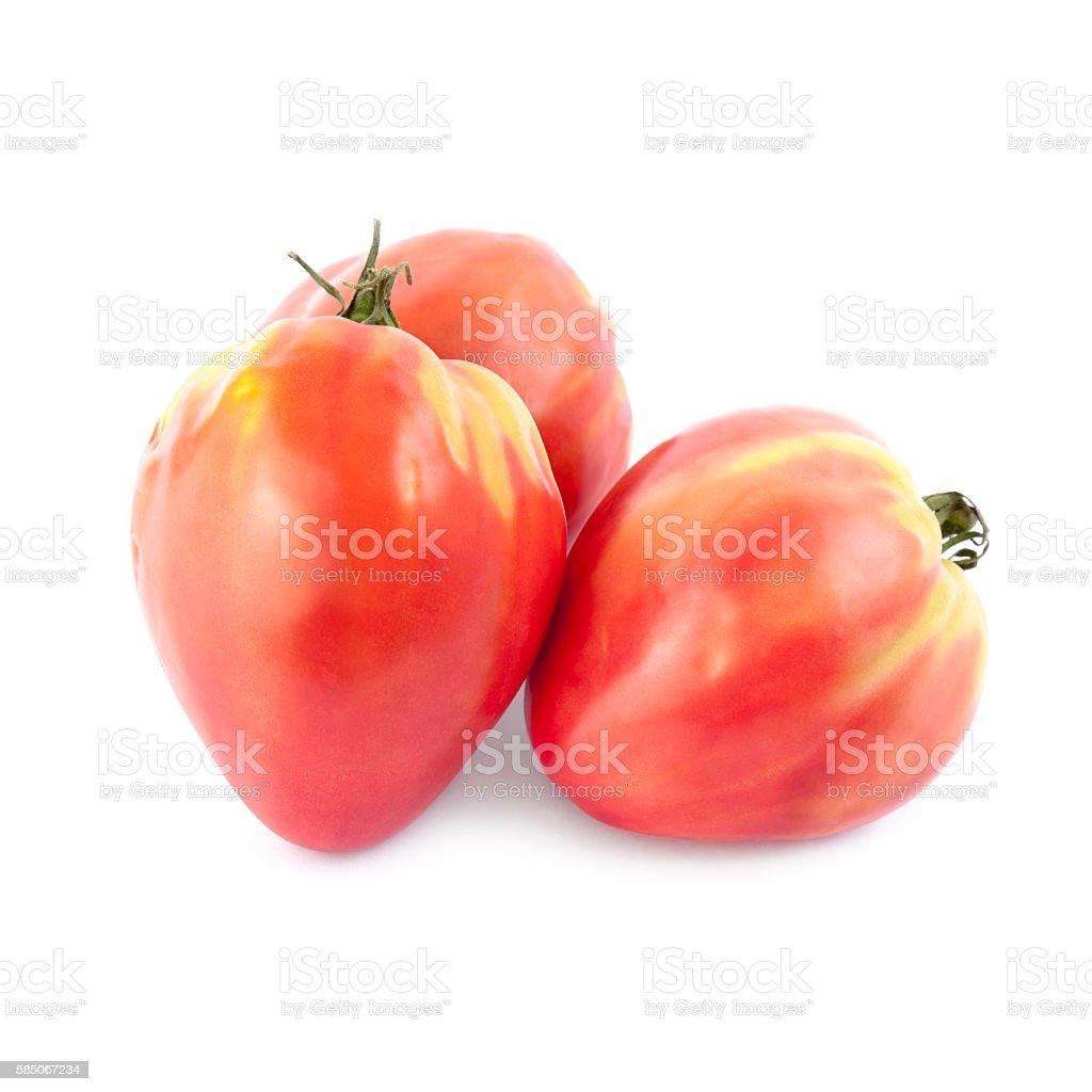 Oxheart tomatoes isolated stock photo