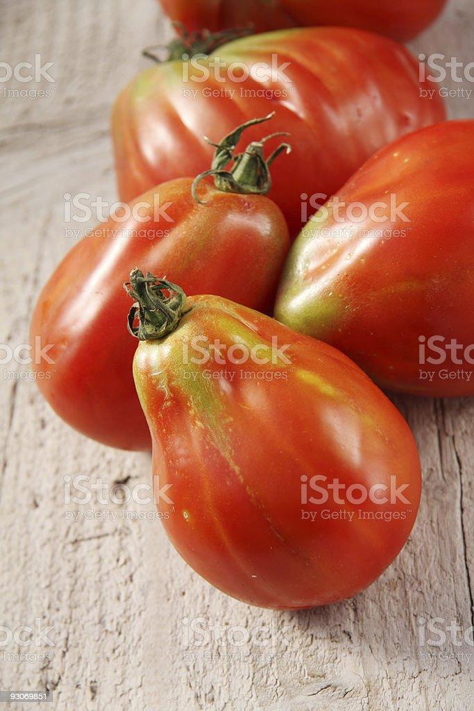 Oxheart  tomatoes stock photo