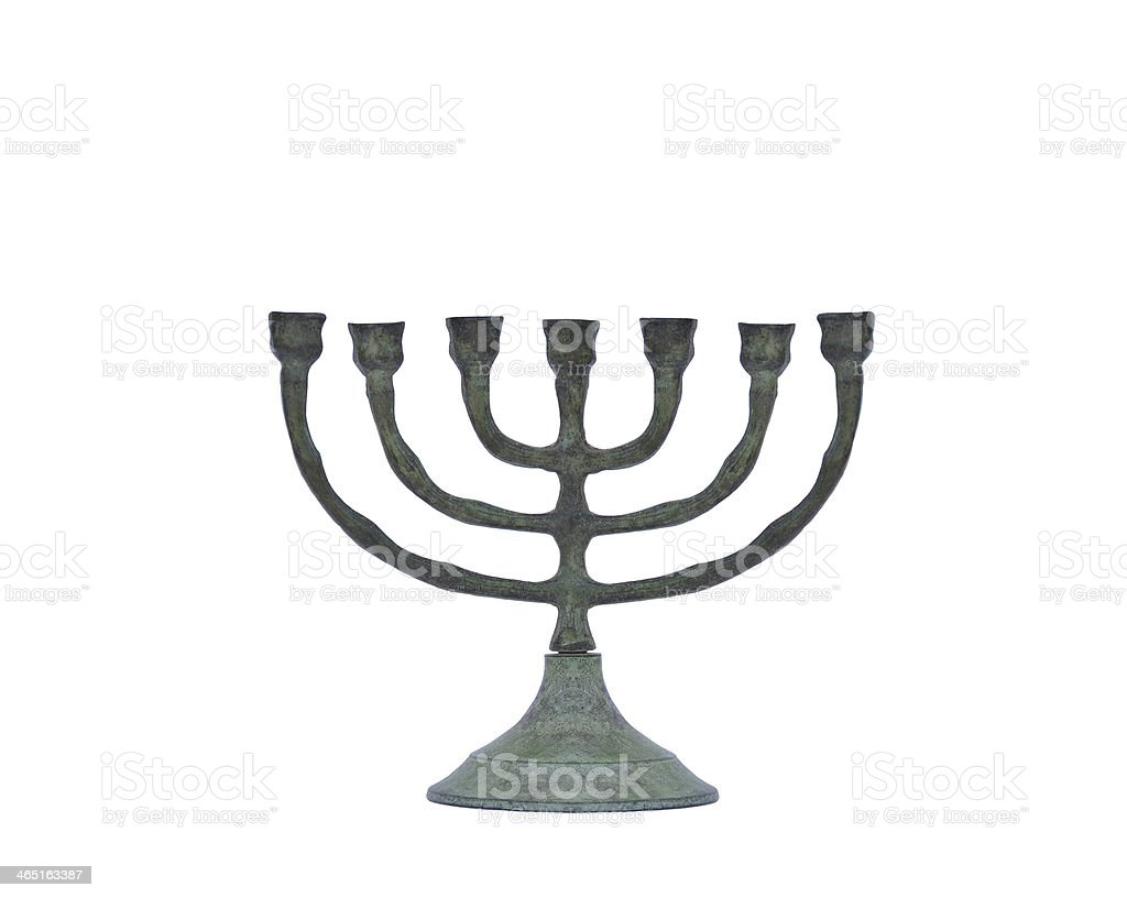 Oxidized Candle Holder stock photo