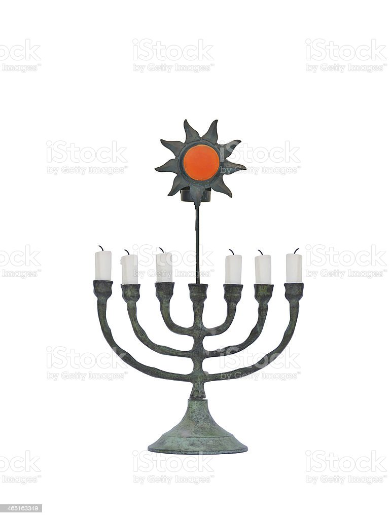 Oxidized Candle Holder with Sun stock photo