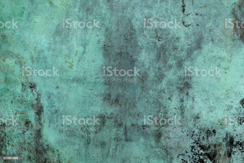 Oxidized Green Copper Background stock photo