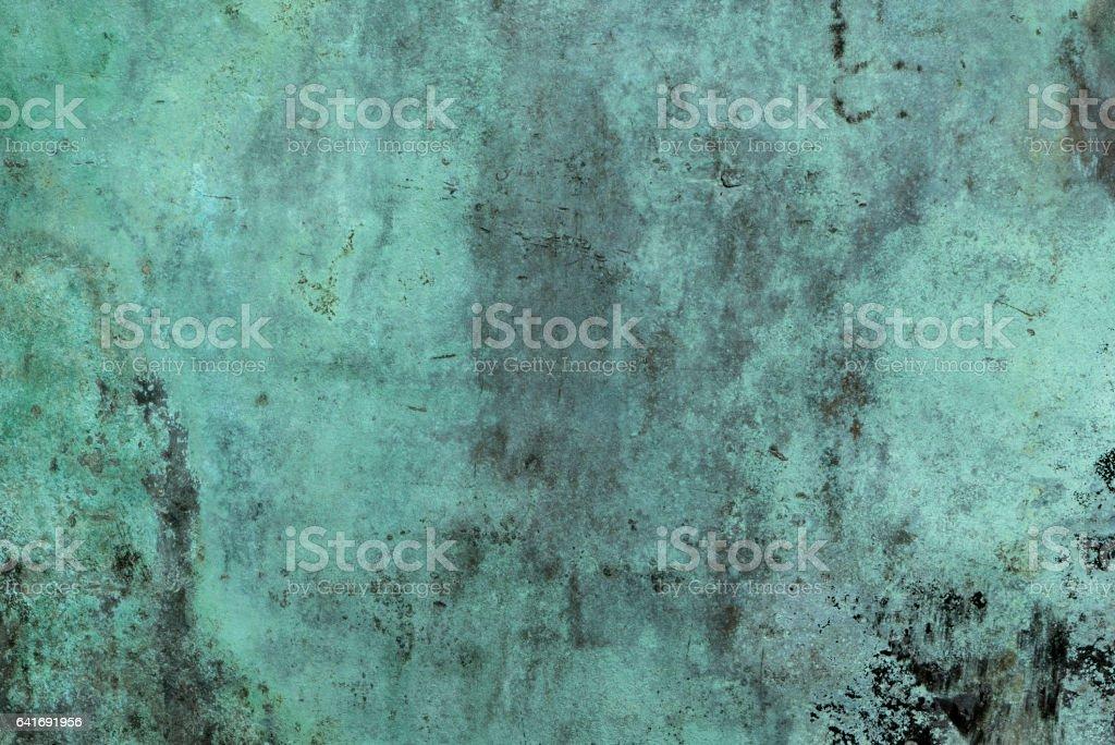 Oxidized Green Copper Background stock photo