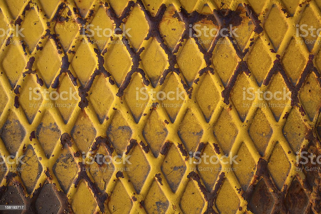 Oxidized metal plate royalty-free stock photo