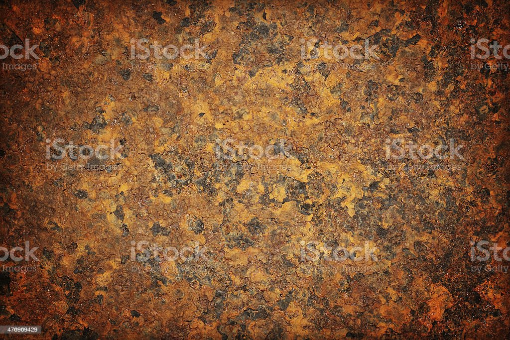 Oxidized metal surface making an abstract texture stock photo