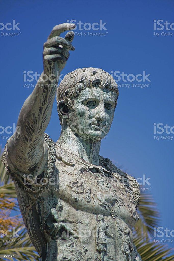 Oxidized Statue of Augustus Caesar royalty-free stock photo