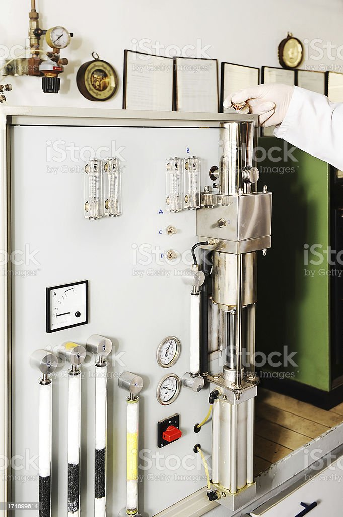 Oxigen Hydrogen Determinator PC Controlled stock photo