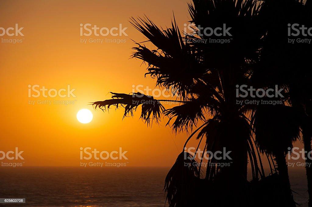 Oxnard Sunset stock photo
