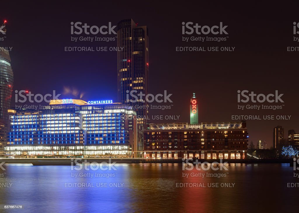 Oxo Tower Wharf in London stock photo