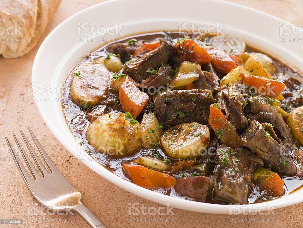 Oxtail and Potato Stew stock photo