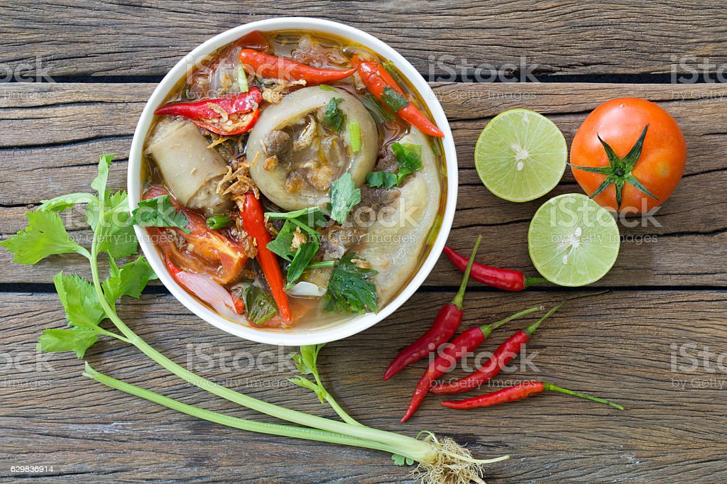 Oxtail soup, halal food, delicious stock photo