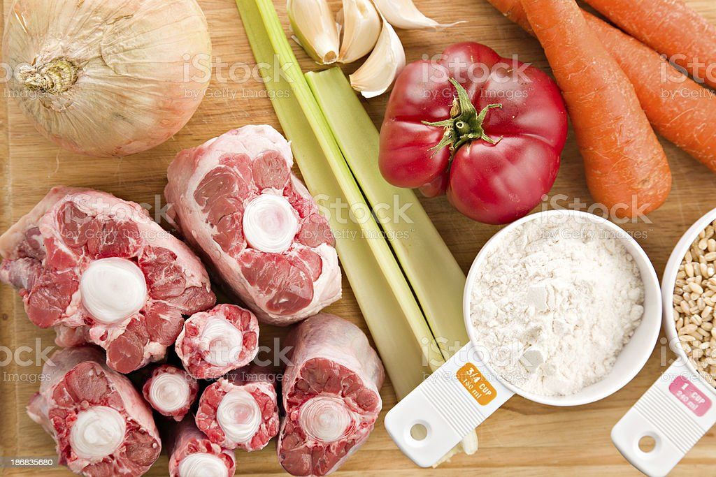 Oxtail Soup Ingredients stock photo