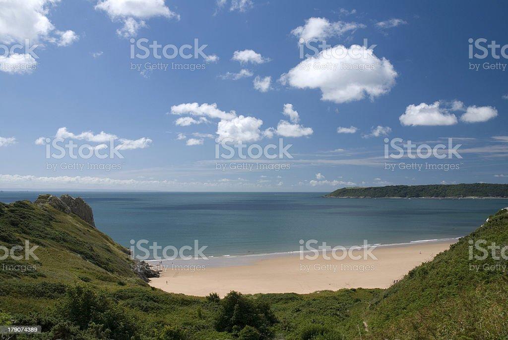 Oxwich bay - Gower peninsula. Wales royalty-free stock photo