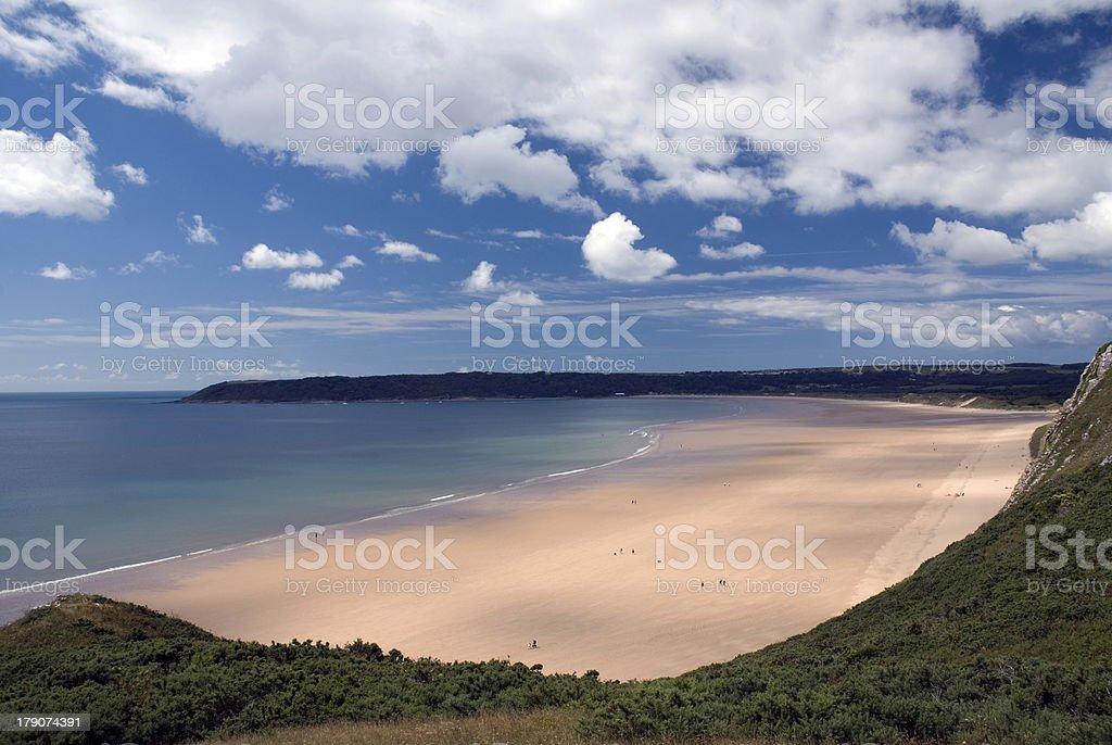 Oxwich bay - Gower Peninsula. Wales stock photo