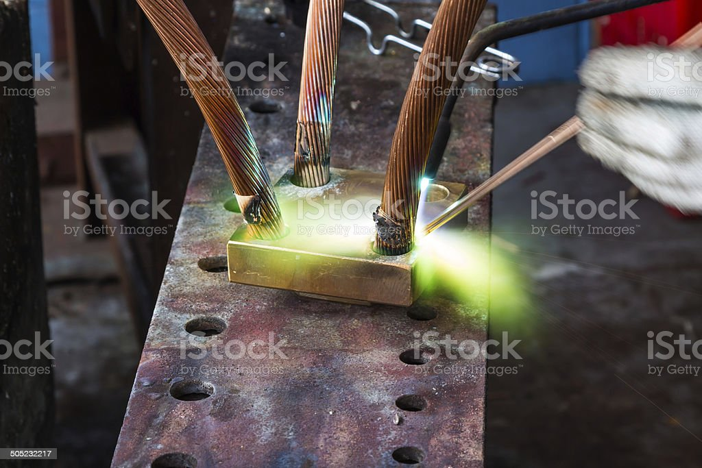 Oxyfuel gas welding (OFW) royalty-free stock photo