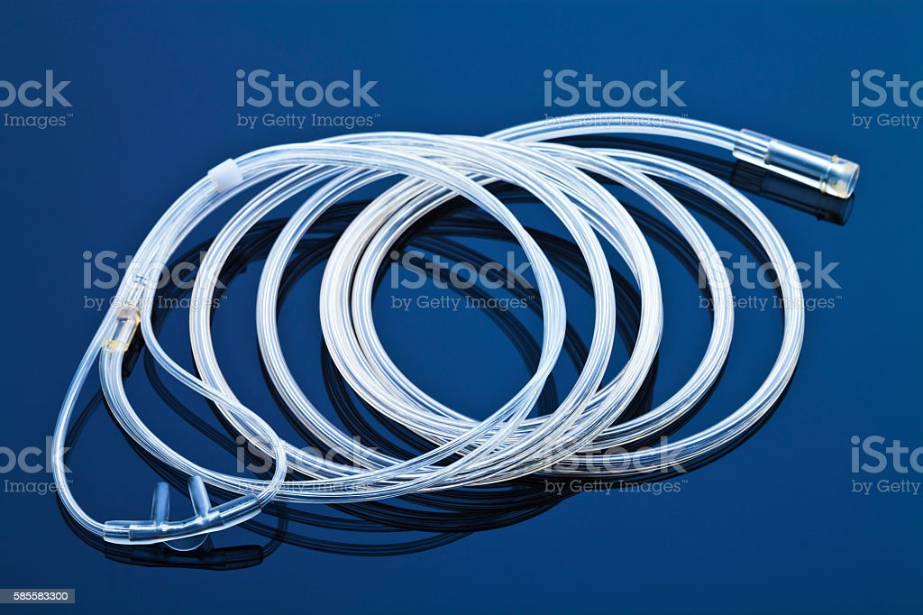 Oxygen Cannula. stock photo