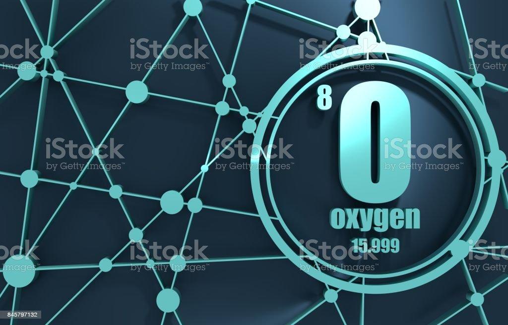 Oxygen chemical element. stock photo