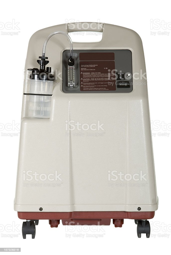 Oxygen Concentrator Isolated stock photo