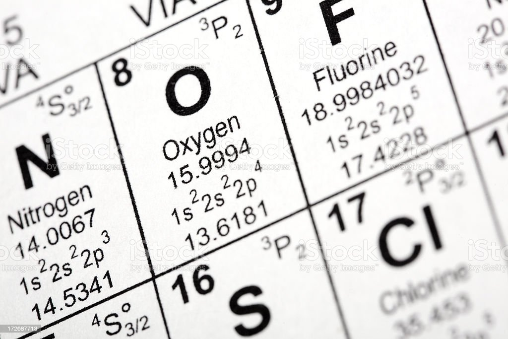 Oxygen Element royalty-free stock photo