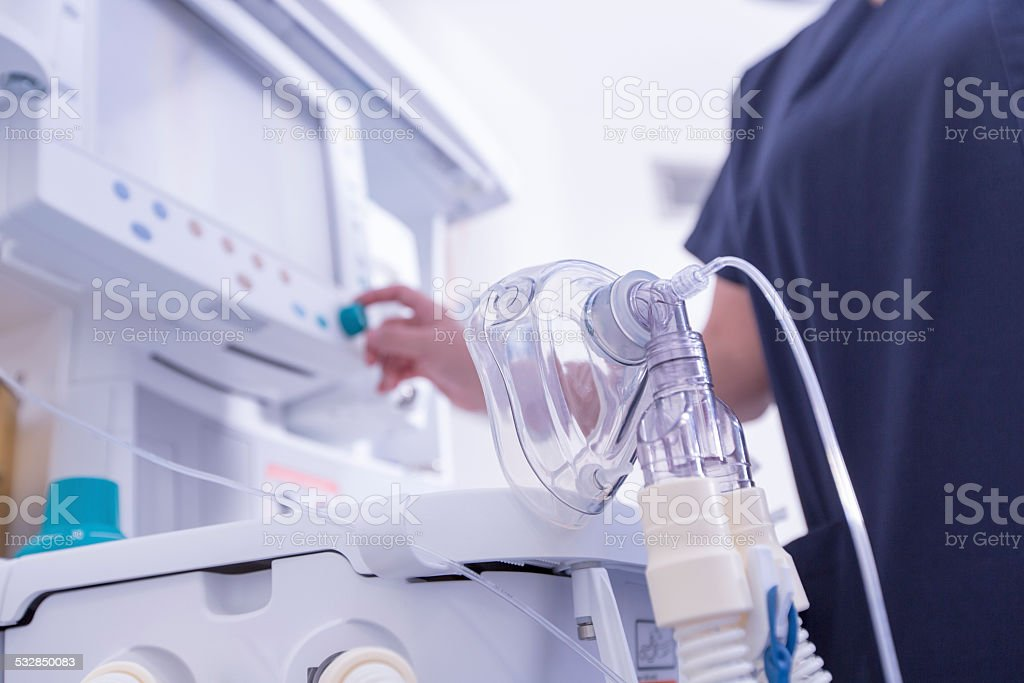 Oxygen Mask stock photo