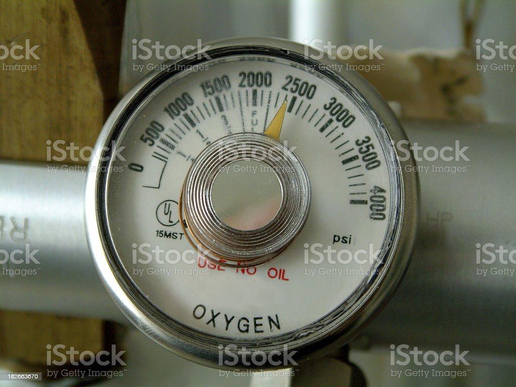 Oxygen Meter royalty-free stock photo