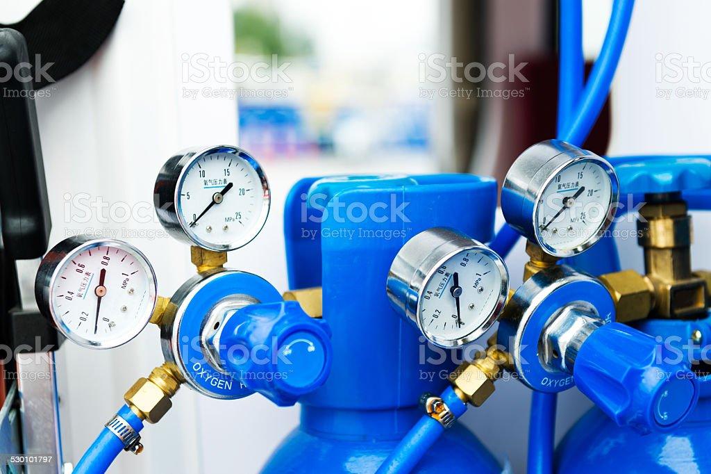 Oxygen meter stock photo