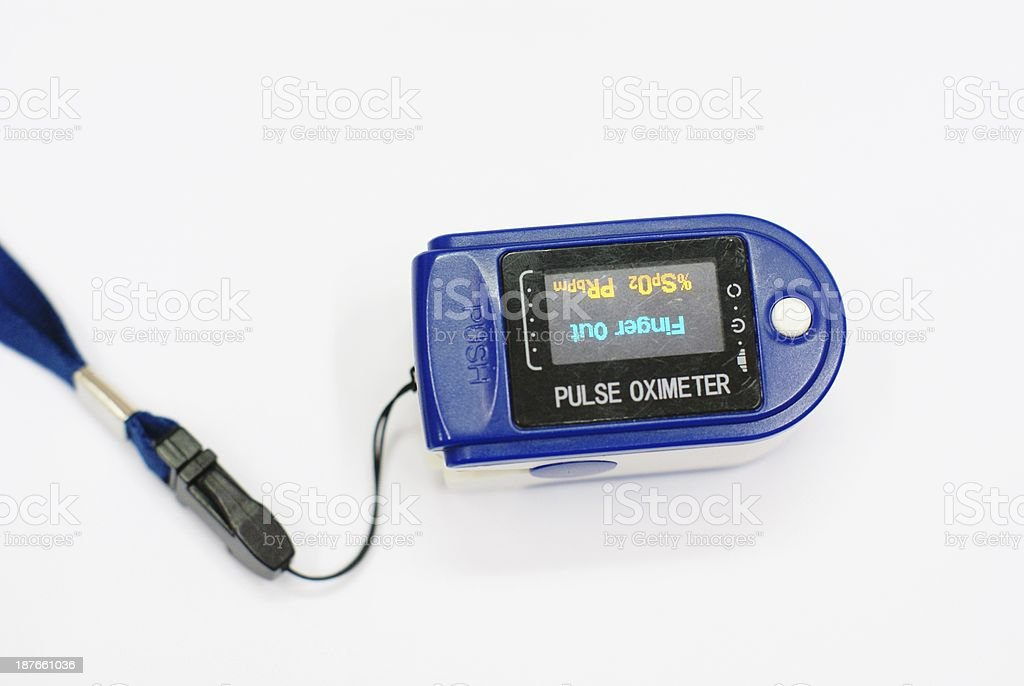 oxygen pulse meter, medical equipment royalty-free stock photo